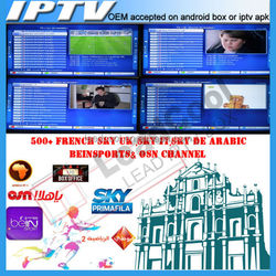 European Arabic IPTV APK,One year free QHDTV account for Android TV Box,BEIN Sport, SKY IT,OSN,CANAL,MBC,600+channels free