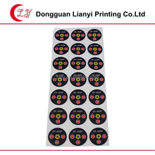 Custom 3D Circle epoxy resin dome sticker
