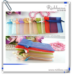 3inch*4inch mixed color plain organza bag for gift