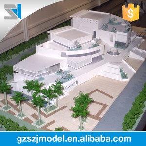 Европа стиль университет модель здания, Дом планы архитектурный масштаб модели