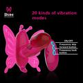 excelente para adultos juguetes sexuales vibración doble diseño de la mariposa Control remoto inalámbrico consoladores
