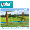2015 Yuhe new hot selling high quality children outdoor wooden swing