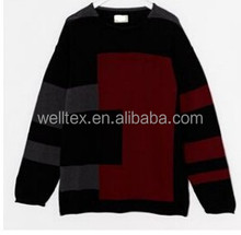 Men's irregular pattern round-neck sweater