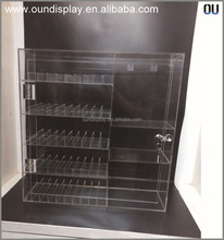 locking e-liquid display case acrylic display rack for rechargeable e hookah
