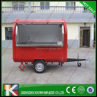 2015 hot sale tricycle food cart/ three/ four wheels snack cart
