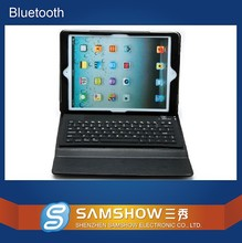 Tablet Keyboard Case Silicone Keypad Pu Leather Case Bluetooth Rechargeable Wireless Stand Keyboard Cover For Ipad 5