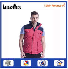 Patchwork red mens embroidered compression cotton vest