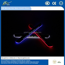 Auto Serviceable Car Accessory Door Sill LED Moving Scuff Plate For Nis san X-TRAIL 2004-2015 Original Stainless Steel