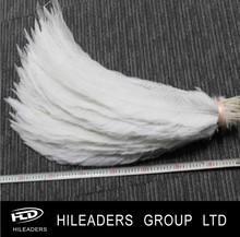 lo323 decorativo de plata de plumas de faisán