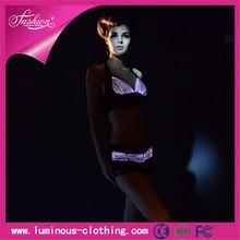 fiber optic clothing fashion luminous led glow in the dark underwear