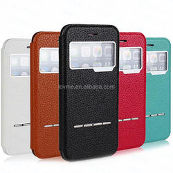 View Window Magnetic Smart Flip Phone Case For Apple Iphone6S