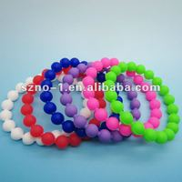 Please contract us to get real Water from Mt. Everest Mud from the dead sea Balance White Black Bead Silicone Bracelet