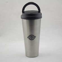 double wall Stainless steel insulation coffee cup with a cup handle New design