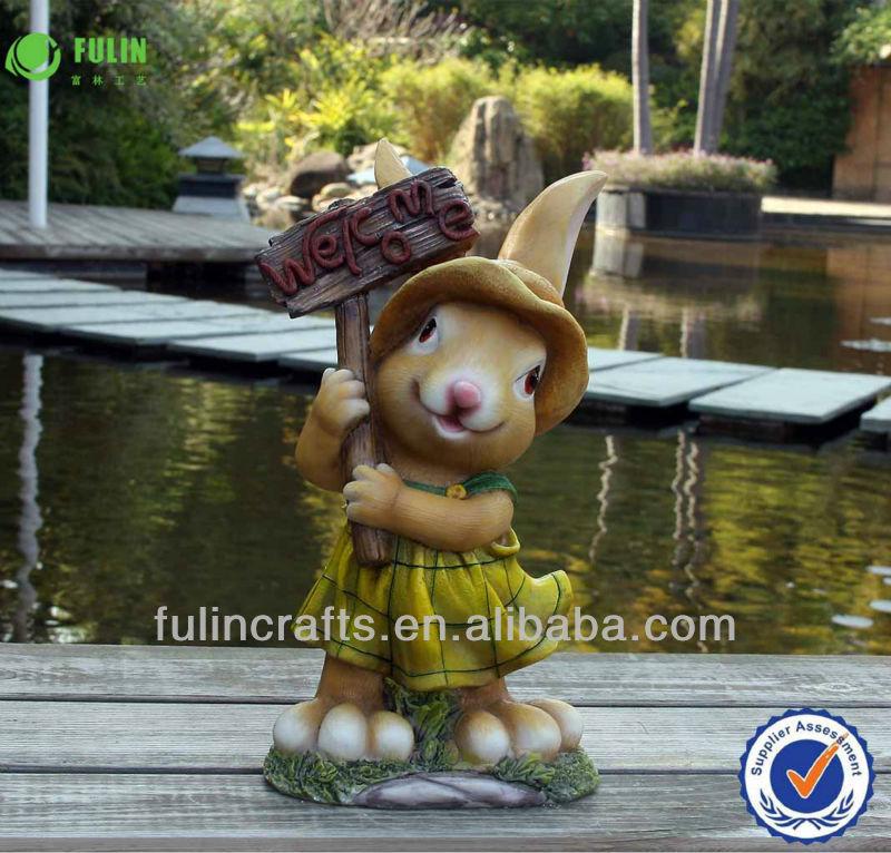 Gros d coration figurine en r sine de jardin ornements lapin for Decoration jardin lapin