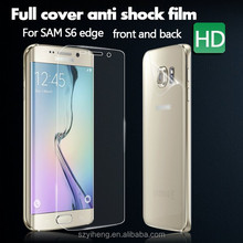 2015 New Design Full Cover Front and Back Anti Shock Screen Protectors for Samsung Galaxy S6 Edge /G925F Screen Protector Film