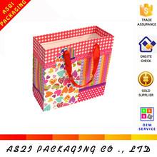 alibaba customized fancy satin return making paper gift bag