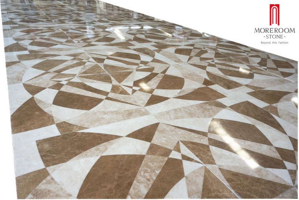 Spain Emperador Light Marble Waterjet Medallions Modern