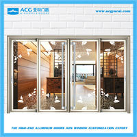 High quality with best price obscure glass aluminum alloy veranda doors