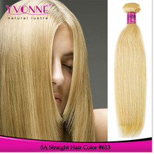 Beauty and high quality blonde color 5a grade peruvian hair