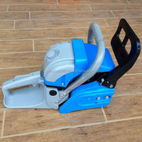new model 52cc,5200 gasoline chain saw,blue color with high quality plastic body