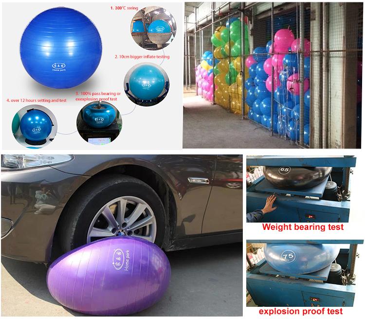 anti burst custom yoga ball