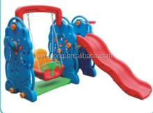 New style kids plastic slide with swing set price