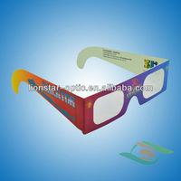 customised logol polarized 3D glasses manufacturer