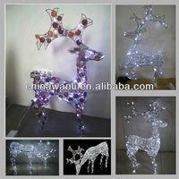 Crystal beads deer w/ lighting, reindeer, LED christmas light, holiday decor