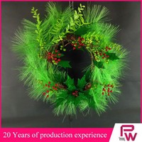 artificial plastic red berry 12v christmas wreath