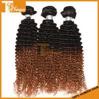 6A Cheap Hair On Sale New Style 2pcs/Set 20 inches 1B/30 Honey Blonde Hair Two Tone Color Chinese Kinky Curly Ombre Hair Bulks