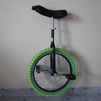 20 inch one wheel bike Single wheel bicycle Double Alloy rim CE certificate Black color