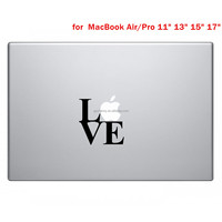 Hot Sale Love Styling Vinyl Decal Sticr Skin for Apple Laptop for MacBook Air/Pro 11 13 15 Computer Wallker Cove
