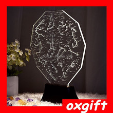 OXGIFT Creative 3D Vision stereoscopic lights, LED decorative personality lamps, bedroom lamps atmosphere romantic gift