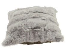 real rabbit fur throw pillow soft sofa cushion cover home office chair home decorative winter throw pillows