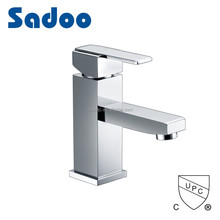 Best value hot & cold water one hole single lever square basin faucet