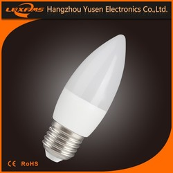 e14 e27 5w 6w 400lm 470lm good quality promotion price hot new design OEM brand C37 candle bulb 12 volt led lightings
