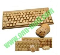 Creative High Quality Bamboo Wireless Keyboard and Mouse
