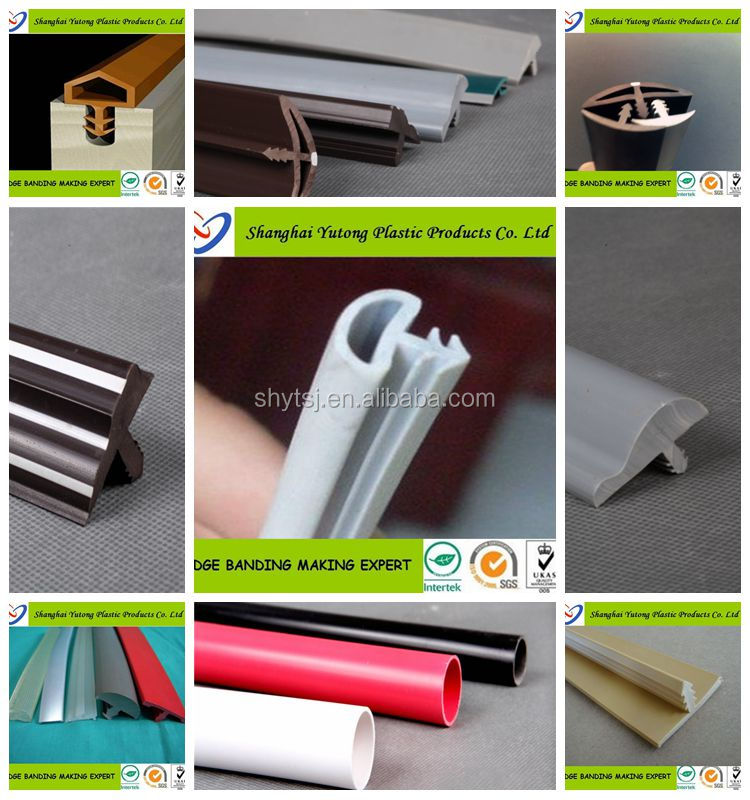 plastic rubber T molding edge trim for table countertop edge banding ...