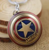 The Avengers Captain America Shield keychain 3D Logo Metal Keyring Hot gift key chain ring holder for man