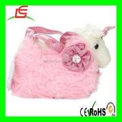 LE B051 Aurora World Fancy Pals Plush Pink Pet Carrier