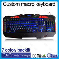 VMQ-33 ISO factory sell directly gaming keyboard multimedia pc backlit keyboard