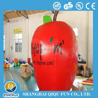 new design lovely fruit inflatable red apple for decoration