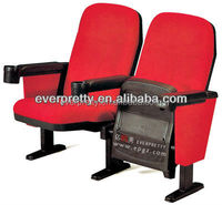 Comfortable fabric cover folding cinema sofa chair, home theater seats sofa chairs with cup holder