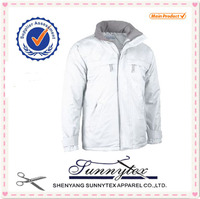 Sunnytex 2014 design plain varsity jacket wholesale winter padded warm jacket