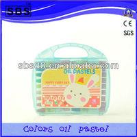 18 color small round oil pastel wax crayon set
