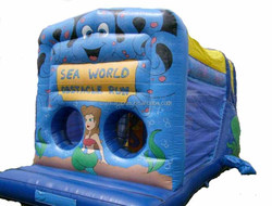 Cheerful Giant Inflatable Obstacle Course /inflatable seaworld obstacle