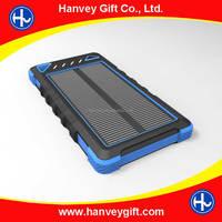 Built-in battery 8000mah portable solar mobile phone charger/solar cell phone charger/solar power bank