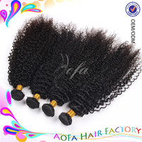 Wholesale best selling kinky curly unprocessed human hair 5a virgin malaysian hair