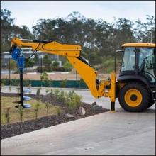 Auger Drive Unit Attachment Mini Excavators Post Hole Digger