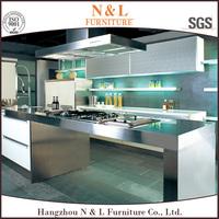 Hot Sale New Aluminium Kitchen Cabinet Work Table Set